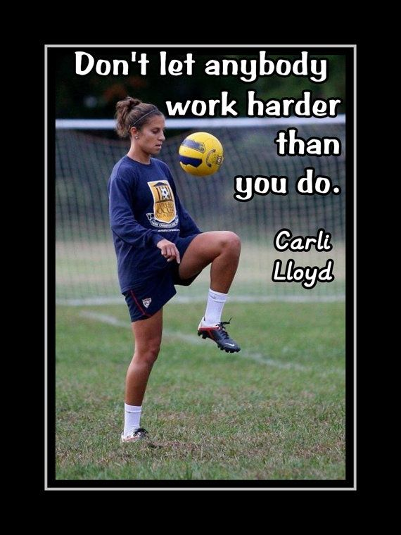 "Soccer Motivation Quote Poster Carli Lloyd Midfielder Photo Wall Art Print 5x7""…"
