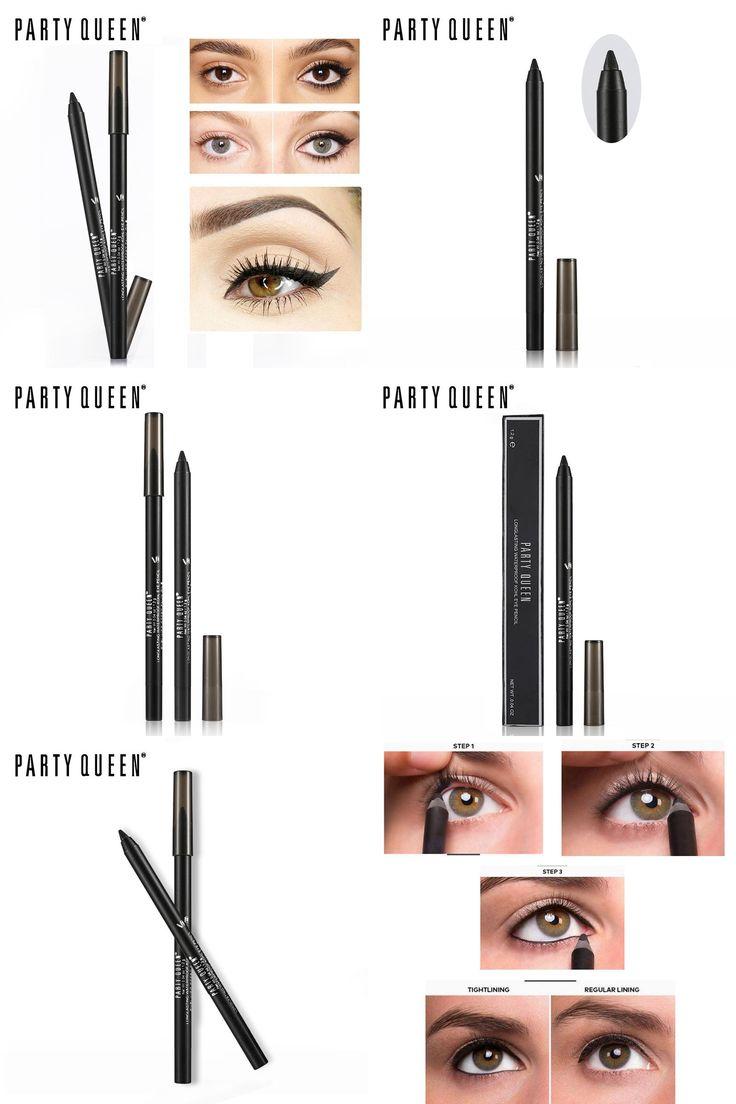 [Visit to Buy] Party Queen Eyeliner Effet Faux Cils Gel Eyeliner Pencil long-lasting Waterproof kohl eye pencil Makeup Smudgeproof Eyeliner #Advertisement