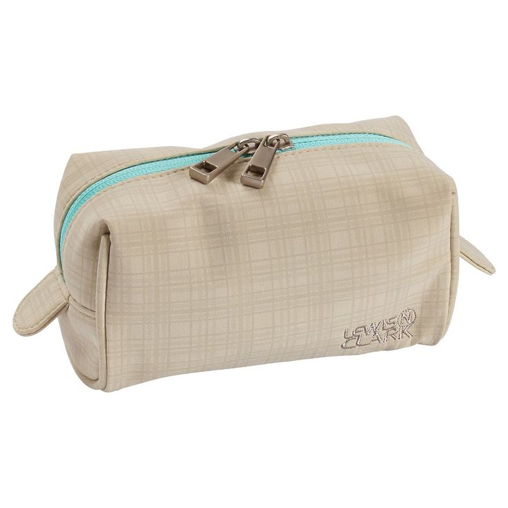 Lewis N. Clark Travel Cosmetic Case (Small), Beige