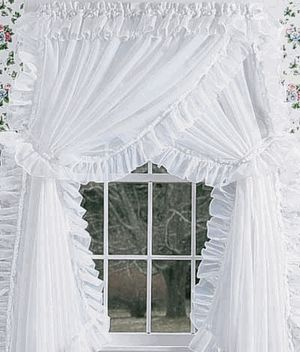 Priscilla Curtains for my sewing room!!