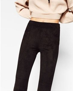 Zara SEAM DETAIL LEGGINGS Found on my new favorite app Dote Shopping #DoteApp #Shopping