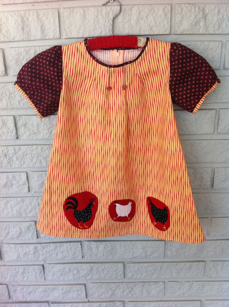 Made by Anne-Britt Nygaard. Facebook: 2sisters redesign.  Girls dress in cotton.