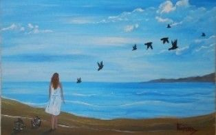 "Freedom - Acrylic Painting on Canvas for Beginners by Yannis Koutras ""KoutrasArt"""