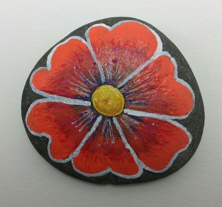 Painted Rock Flower