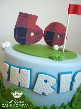 60th birthday golf cake