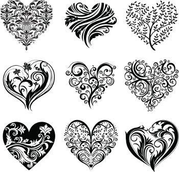 Heart tattoo designs: I don't know why the description is talking about wedding band tattoos? Anyway. I love the tree one!