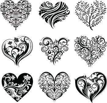Heart tattoo designs