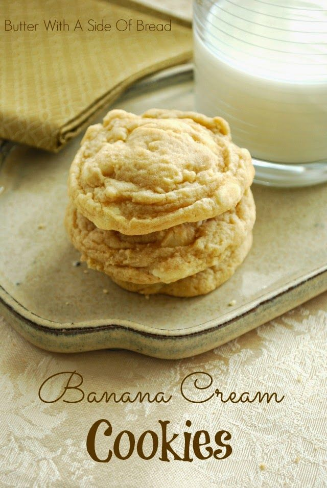 BANANA CREAM COOKIES: Butter With A Side of Bread  I'll prob omit the choc chips, but otherwise these sound fantastic!