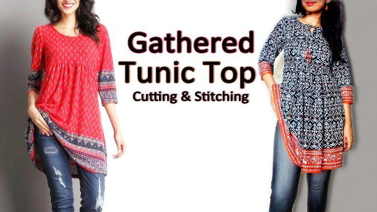 Gathered Tunic Top   Trendy Tunic Top / Short Kurti   Latest Top Designs