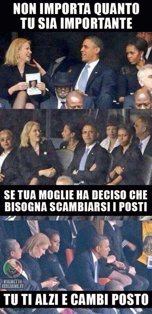 Vignette Italiane immagini divertenti umorismo ridere risate DONNE UOMINI GELOSIA OBAMA MICHELLE BARACK POSTI Q3WEFSD