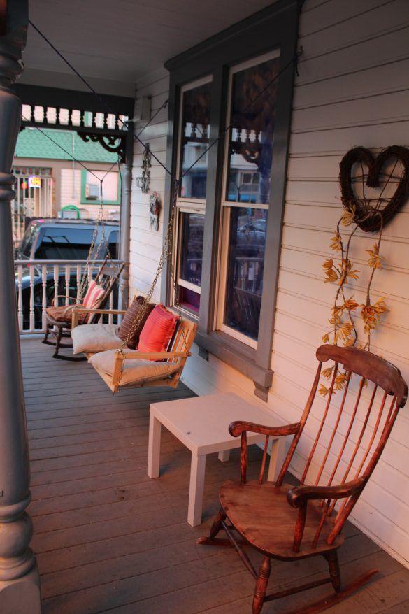 porche américain, rocking chair
