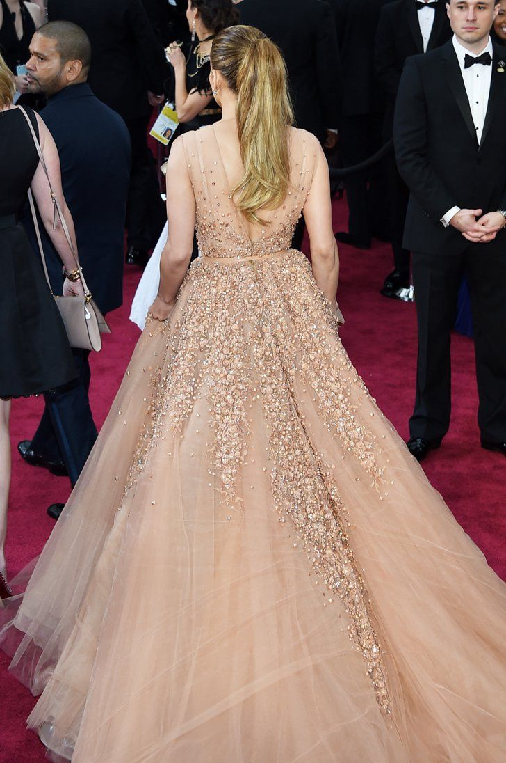 Pin for Later: We Never Expected This From Jennifer Lopez Jennifer Lopez in Elie Saab at the 2015 Oscars