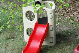 Eat, Craft, Post: Patio Curtains and painting our little tikes climber