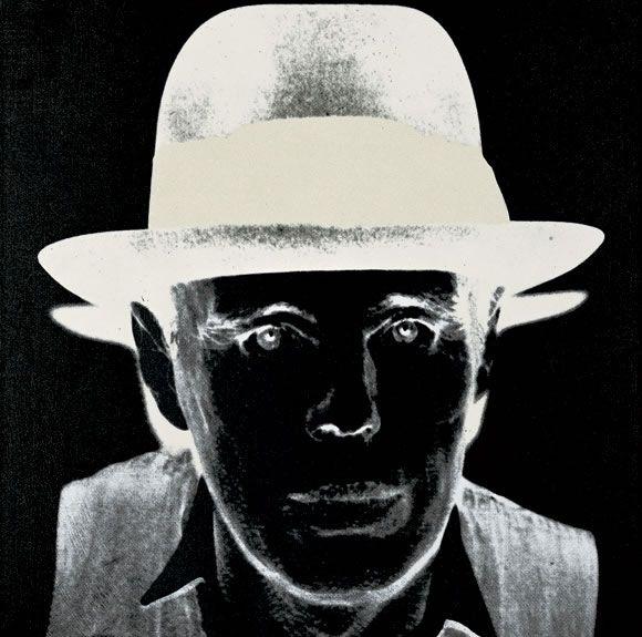 Joseph Beuys, 1980 Andy Warhol Siebdruckfarbe und Diamantstaub auf Acryl auf Leinwand, 101,5 x 101,5 cm Foto: Robert Bayer, Basel