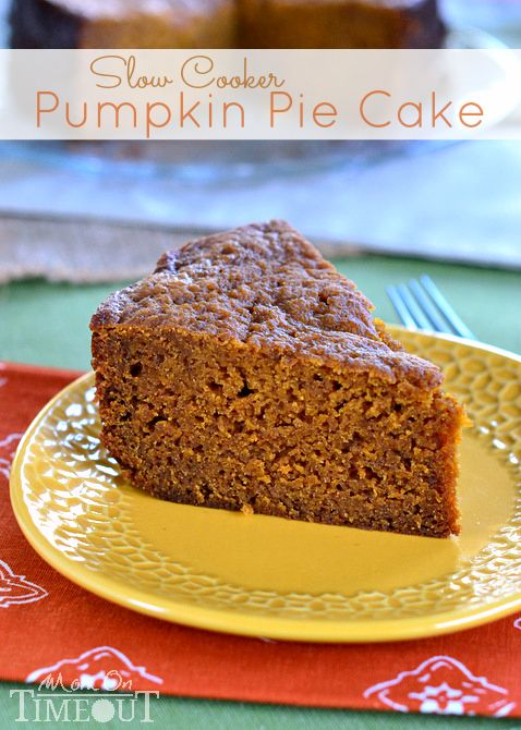 Slow Cooker Pumpkin Pie Cake - Mom On Timeout