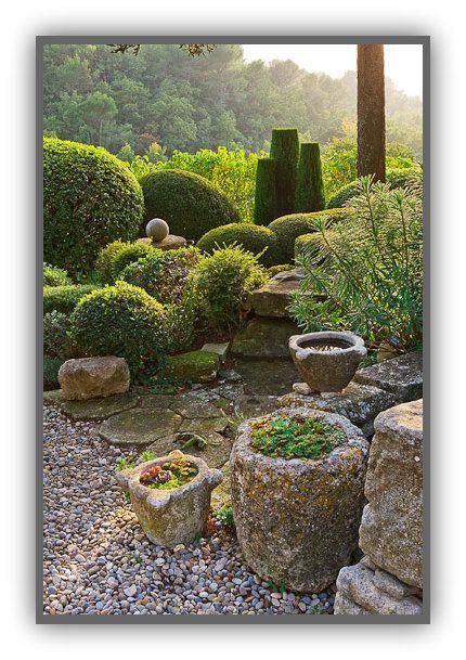 La Louve, the private garden of Nicole de Vesian IN Bonnieux, Provence, France