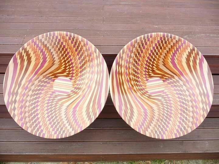 Laminated bowls 700mm dia