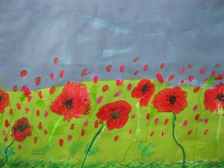 Red poppies for November 11