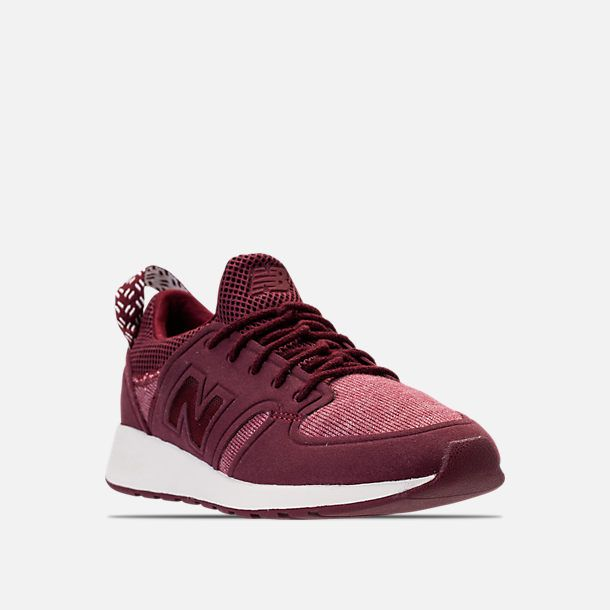 Three Quarter view of Women's New Balance 420 Slip-On Casual Shoes in Burgundy