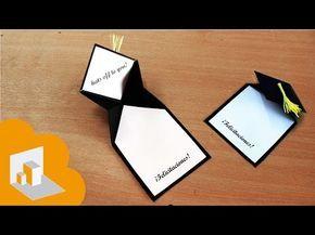 Como hacer una Tarjeta para GRADUACION (super fácil y rápido) - YouTube