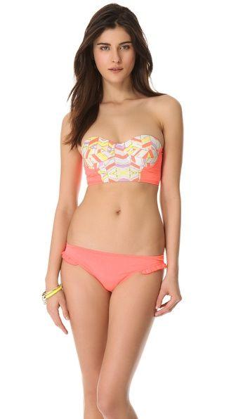 Zinke Strapless Chevron Bikini Top | SHOPBOP