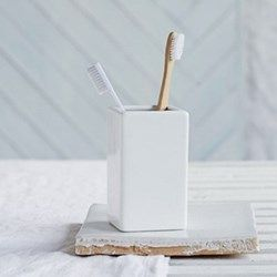 Toothbrush holder H12 x W7 x L7cm The White Company at The Wedding Shop | Weddings | wedding ideas | wedding gift | wedding gifts for bride and groom | wedding gift ideas | wedding gift for couple | wedding presents | unique wedding gifts | wedding present ideas | wedding presents for couples | wedding gift list | bride | groom | wedding planning | inspiration | gift idea. Add to list >>> https://www.weddingshop.com/brand-landing/The-White-Company