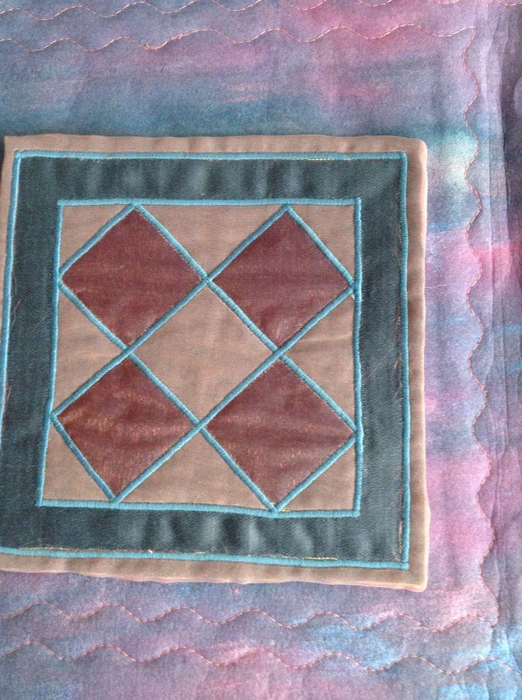 Miniature Amish quilt