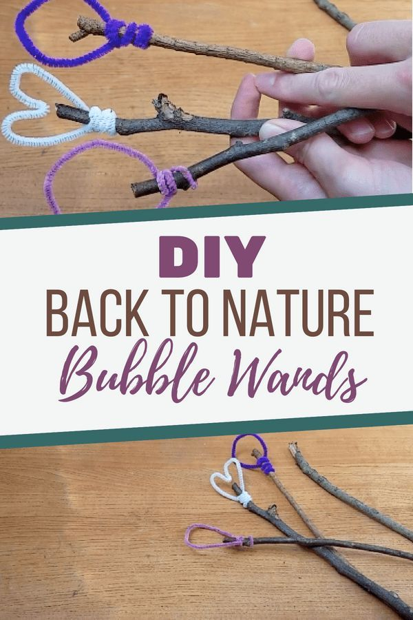 Diy Bubble Wands From Nature Bubble Wands Bubble Diy Diy
