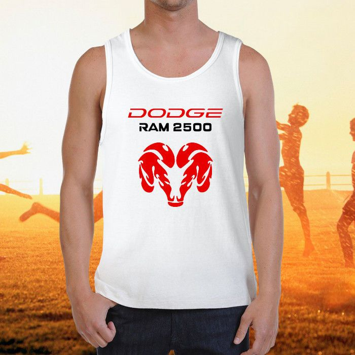 Men/'s sleeveless shirt Dodge Hemi design workout muscle tee tank top