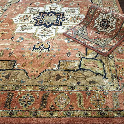 Kashan Hand Tufted Rug...looking for something like this, but I need a 2x3 which isn't available in this rug.