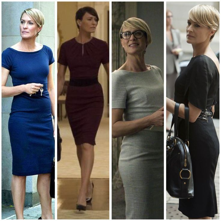 Robin Wright and I have very similar body types and short hair, so if it looks good on her, it probably looks good on me. Also tend to LOVE her outfits on House of Cards.
