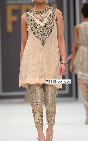 Light Peach Chiffon Suit | Buy Pakistani Fashion Dresses and Clothing Online in USA, UK