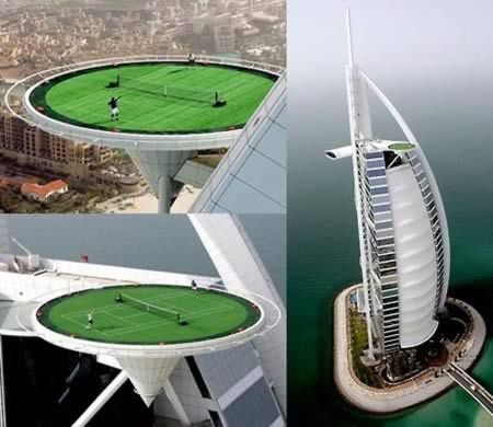 The World's Highest Rooftop Tennis Court (Dubai) | See More Pictures