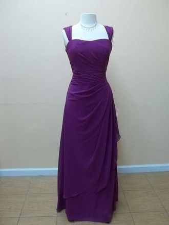 70d4cb226d Mori Lee Mulberry Chiffon 683 Formal Bridesmaid Mob Dress Size 16 ...