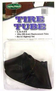 Tricam Farm & Ranch 10-Inch Replacement Wheelbarrow Tire Tube, 4.10/3-1/2-4 by Tricam. $7.08. Not for highway use. 4.10/3.5-4 Tube. Designed for 10-inch tires. Replacement Tube. Farm & Ranch brand. A quality replacement tube for small wheelbarrow or garden cart tires. This tube is designed for 4.10/3.5-4 tires.. Save 45% Off!