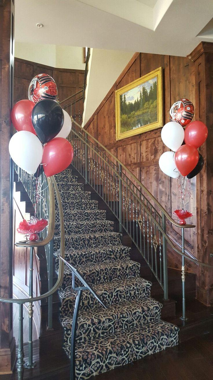 Bowling pin balloons - Casino Theme Bouquets
