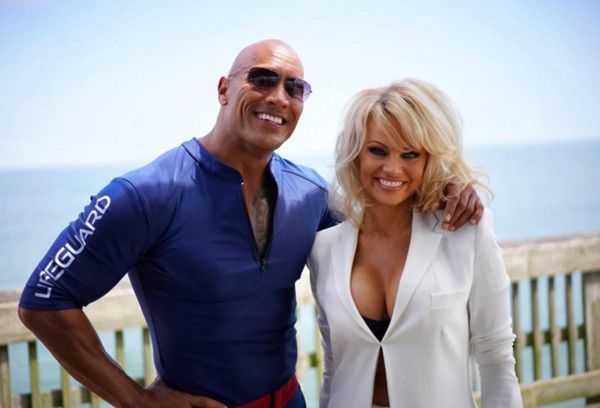 "Pamela Anderson Joins Dwayne ""The Rock"" Johnson's Baywatch Movie  Dwayne Johnson, The Rock, Pamela Anderson"