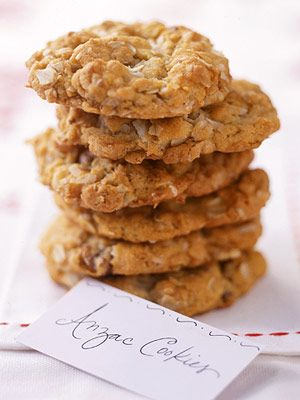 This buttery cookie recipe combines rolled oats, chopped walnuts, and flaked coconut into a chewy, crispy treat.