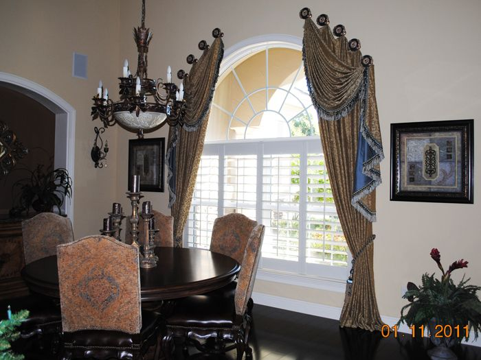 drapes modern treatments drapery curved window for image rods large arch arched best windows styles top curtains treatment valance