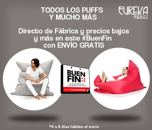 http://www.eurekamuebles.com.mx Puffs ofertas especiales para quienes digan que lo vieron en #Pinterest o #Facebook