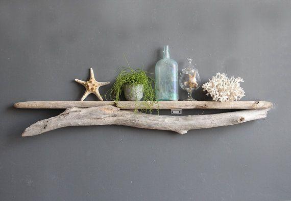 driftwood shelf   Natural Driftwood Shelf - Perfect Mantle // Size EXTRA LARGE