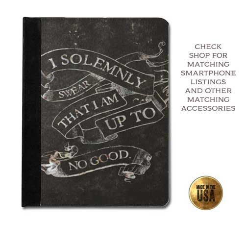 I solemnly swear i am  up to no good Harry Potter inspired grunge book cover tablet case (ipad 2 3 4, air, mini, Kindle Fire, paperwhite)