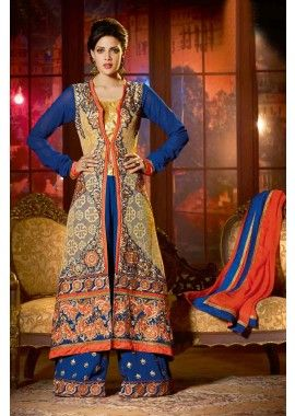 multi couleur georgette Anarkali costume, - 249,00 €, #Robepakistanaise #Robepakistanaisepascher #Robebollywood #Shopkund