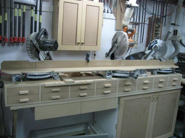 10 Best Images About Workshop Miter Saw Tables On