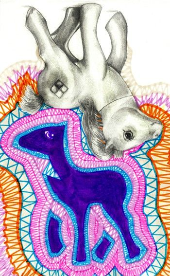 """""""Soul of an object"""" by Isabel Leal Bergstrand. Available at: http://www.arrivals.se/product/soul-of-an-object-by-isabel-leal-bergstrand #art #affordable #arrivals #affordableart #mylittlepony #horse #color #print"""