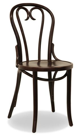 Bon Uno Est Bentwood Dining Chair in Dark Walnut with timber seat. $189 and Free Shipping Australia Wide