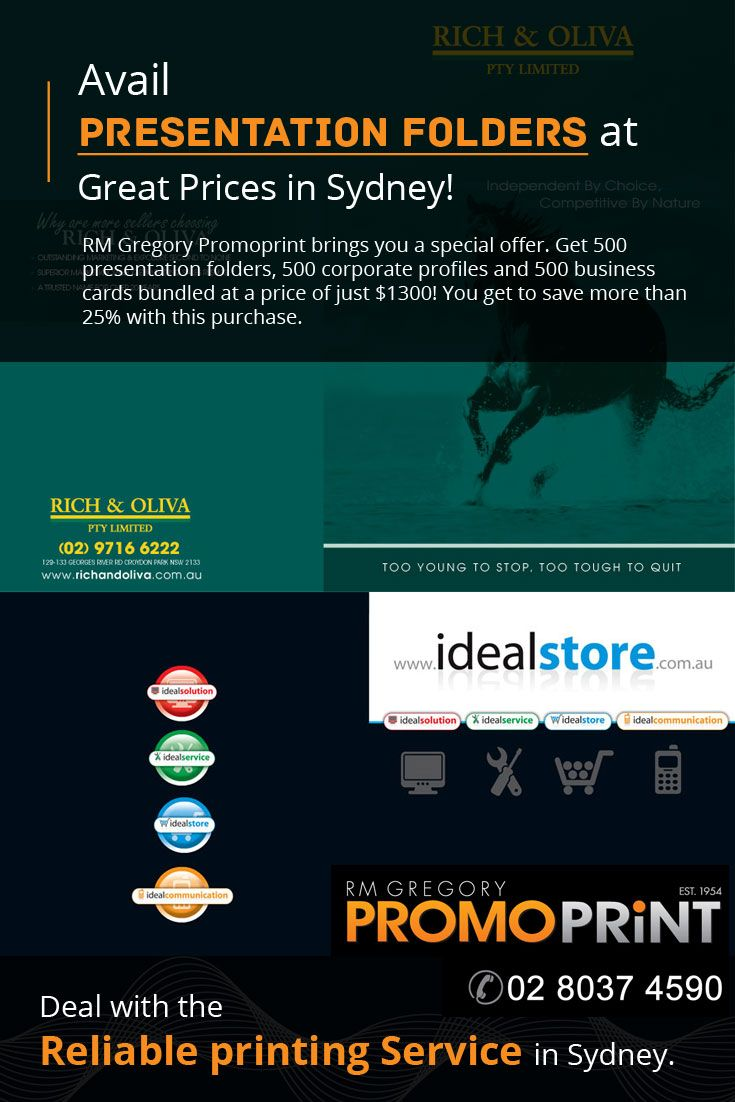 9 best rm gregory promoprint images on pinterest advertising rm gregory promoprint brings you a special offer get 500 presentation folders 500 corporate colourmoves