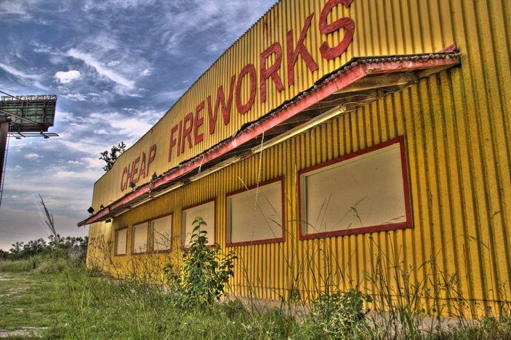 abandoned fireworks store Savannah Georgia
