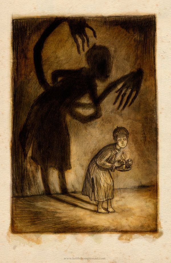 An illustration made for the movie Don't Be Afraid of the Dark by Keith Thompson