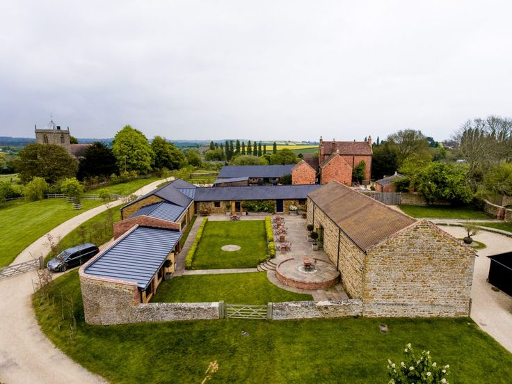 Dodford Manor Wedding - Drone shot with two-d photography and videography
